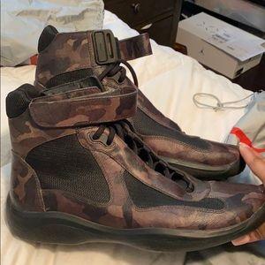 Men's Prada Camo Boots